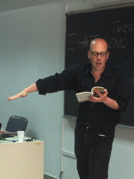 Brendan Constantine Teaching in Athens Greece